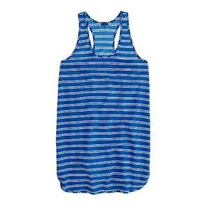 3/$30 J. Crew Blue Gauze Tank Dress in Stripe XL